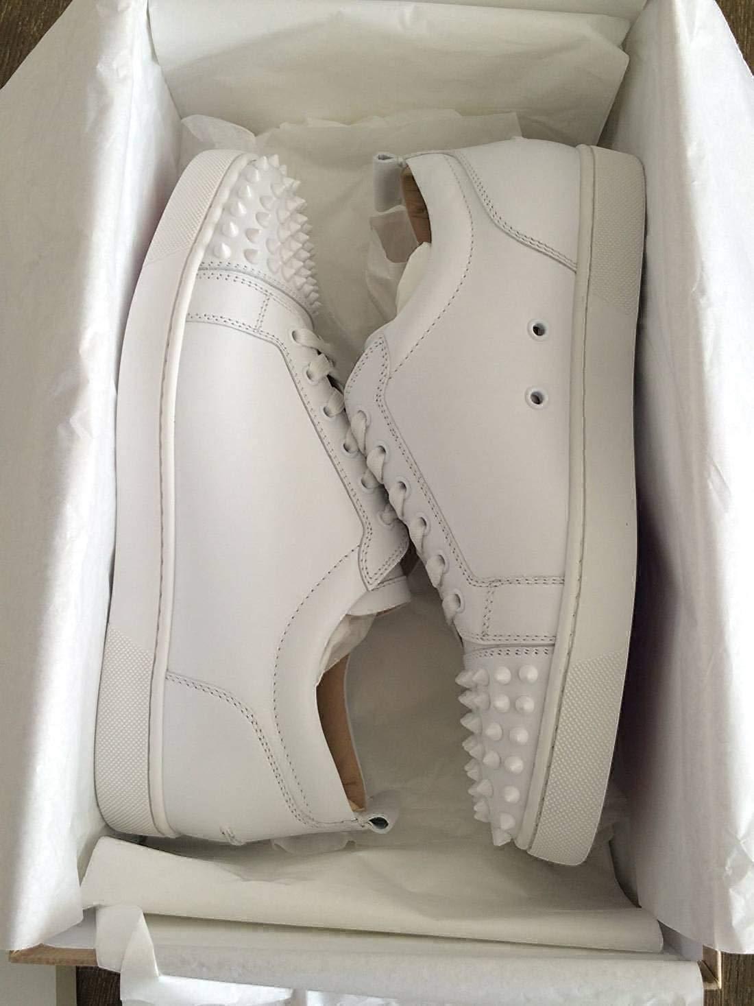 Christian Louboutin Authentic Louis Flat Calf White Sneaker 02