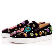 Christian Louboutin Candy Flat Veau VelourBoat Sneaker 01
