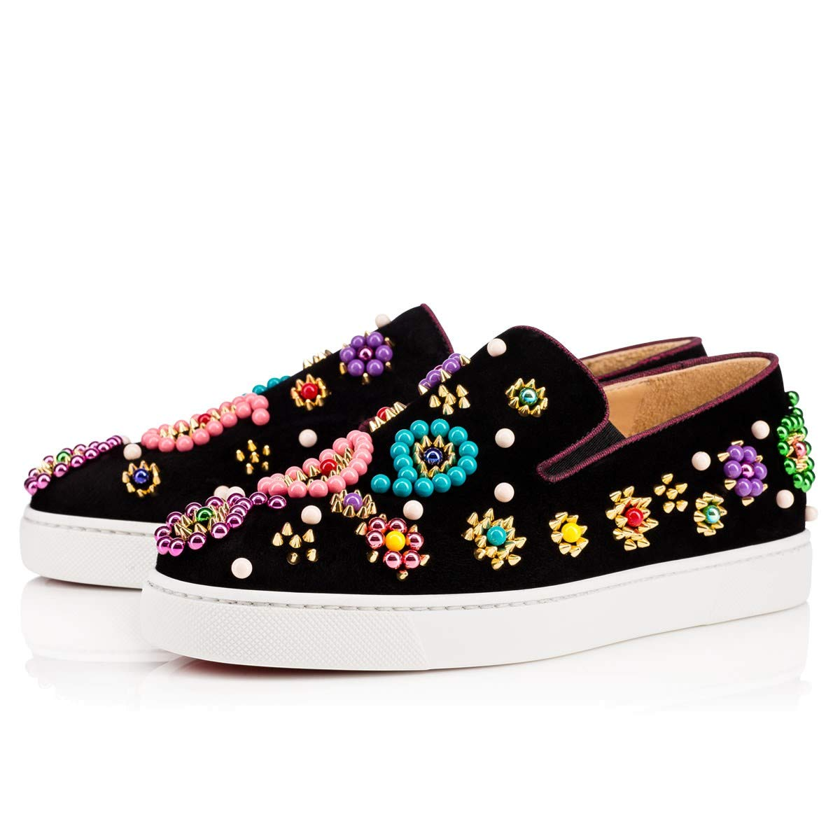 Christian Louboutin Candy Flat Veau VelourBoat Sneaker 01