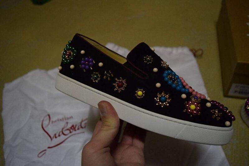 Christian Louboutin Candy Flat Veau VelourBoat Sneaker 02