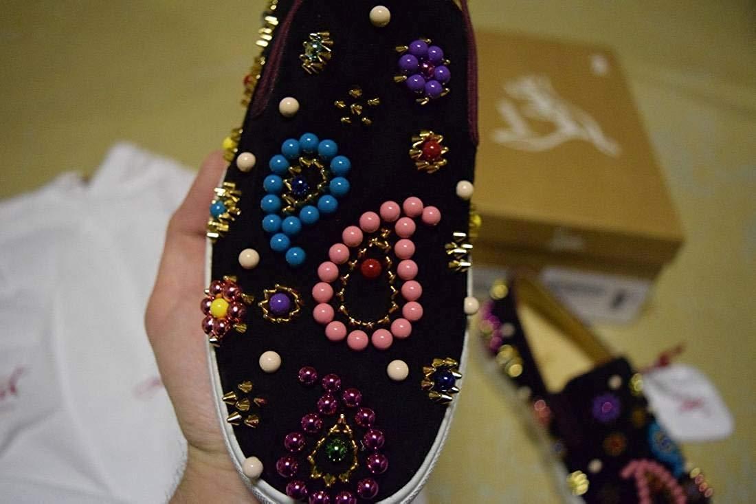 Christian Louboutin Candy Flat Veau VelourBoat Sneaker 03
