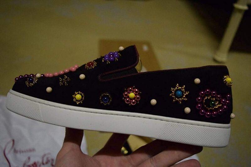 Christian Louboutin Candy Flat Veau VelourBoat Sneaker 04