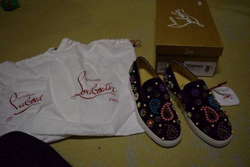 Christian Louboutin Candy Flat Veau VelourBoat Sneaker 05