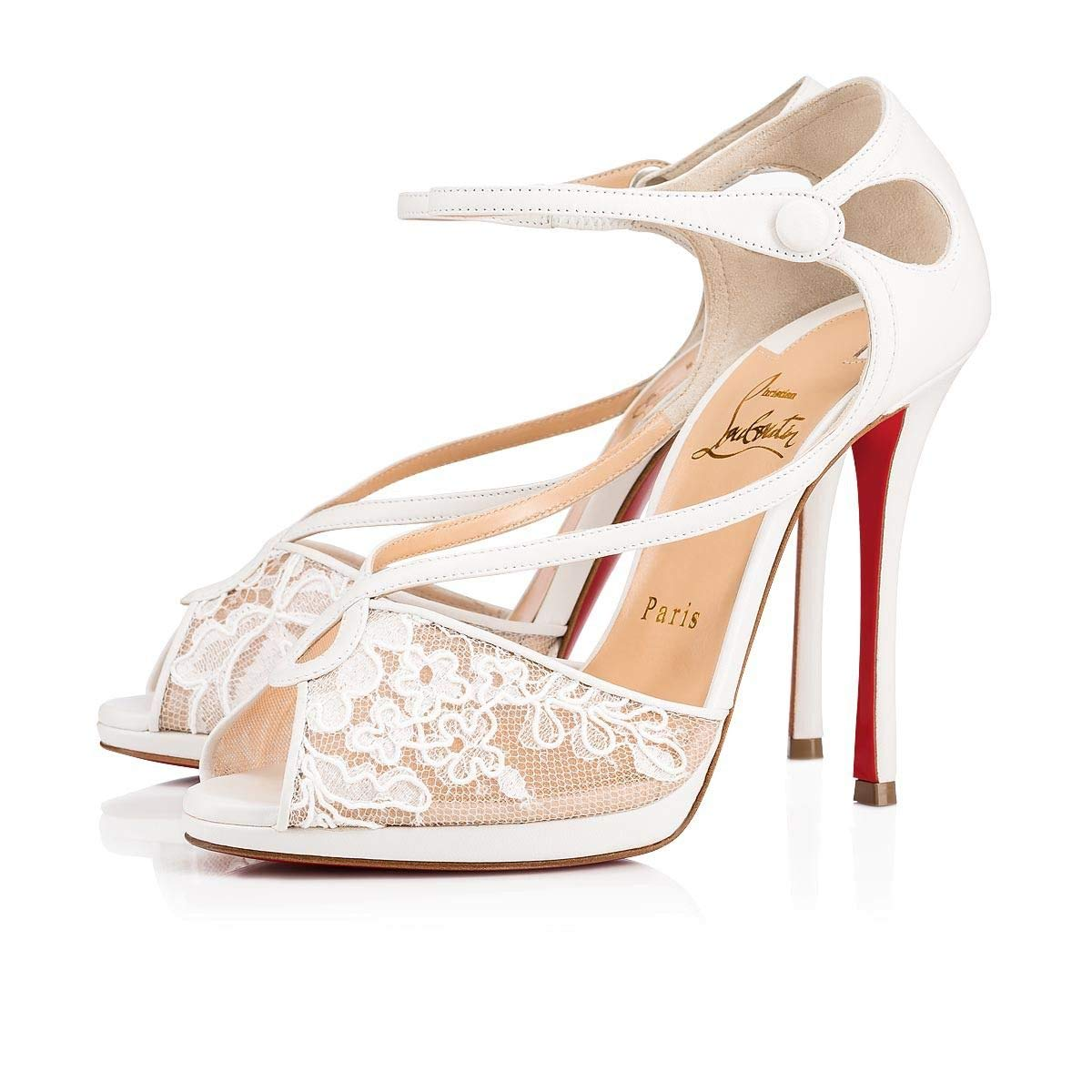 Christian Louboutin Luxury Fashion Leather Heels Sandal 02