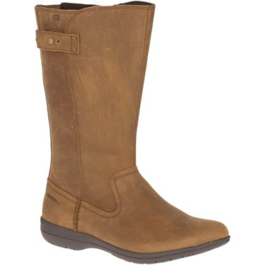 Merrell Encore Kassie Tall Waterproof Fashion Mid Calf Boot Merrell Tan