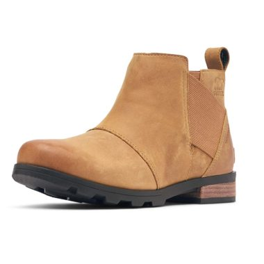 Sorel Emelie Chelsea Waterproof Ankle High Boots Camel Brown