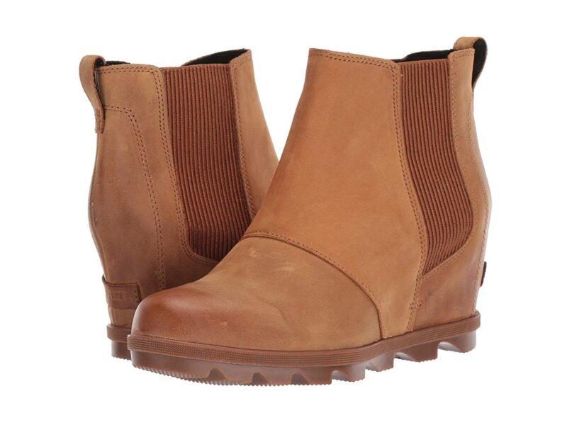 Sorel Emelie Chelsea Waterproof Ankle High Boots Camel Brown Ii