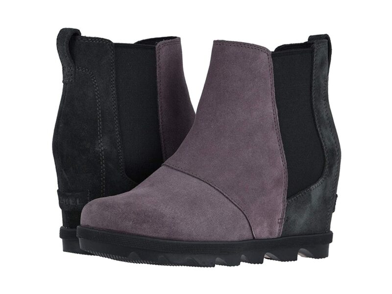 Sorel Emelie Chelsea Waterproof Ankle High Boots Purple Sage Ii