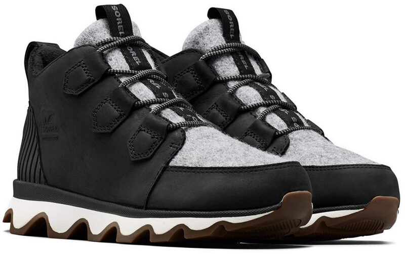 Sorel Kinetic Caribou Insulated Sneakers for Winter Black